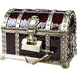 Aoakua 鍵付き 宝箱 アクセサリーケース ジュエリーボックス トレジャーボックス (ブロンズブラウン)