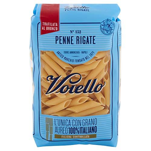 Voiello Pasta Penne Rigate N.152, Pasta Corta di Semola Grano Aureo 100% - 500 g