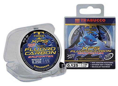 Trabucco - Hilo sedal para Pesca Invisible fluorocarbono t Force Saltwater xps 0,25 50m 6,438 kg  14,18 kg