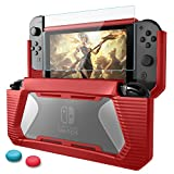 Nintendo Switch Coque avec Protection Écran,Protection Switch,HEYSTOP TPU PC Coque...