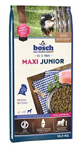 bosch HPC Maxi Junior | Alimento seco para perros de cría de razas grandes (a partir de 25 kg de peso final) | 1 x 15 kg