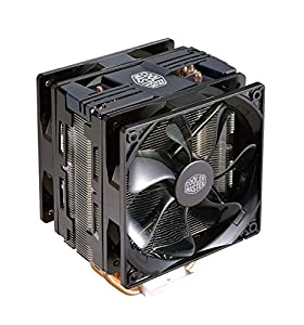 Cooler Master Hyper 212 LED Turbo Black Cover CPU Air Cooler '4 Heatpipes, 2x 120mm PWM Fans, Red LED' RR-212TK-16PR-R1