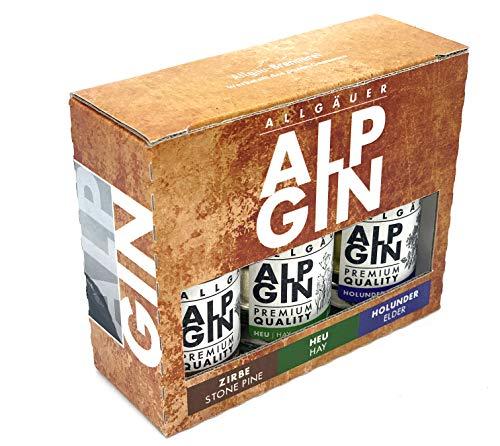 AlpGin 3er Probier-Set - Holunder, Heu und Zirbe je 50 ml