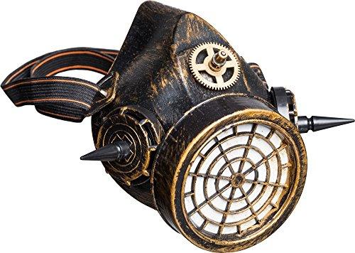 Fasching Steampunk Maske Atemmaske bronze