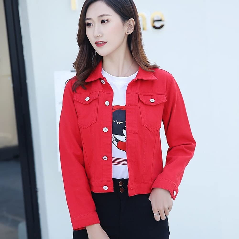 zhuodike Women Denim Jacket Short Tops Jackets Sle Long Overcoat Challenge the lowest price of Limited time cheap sale Japan ☆