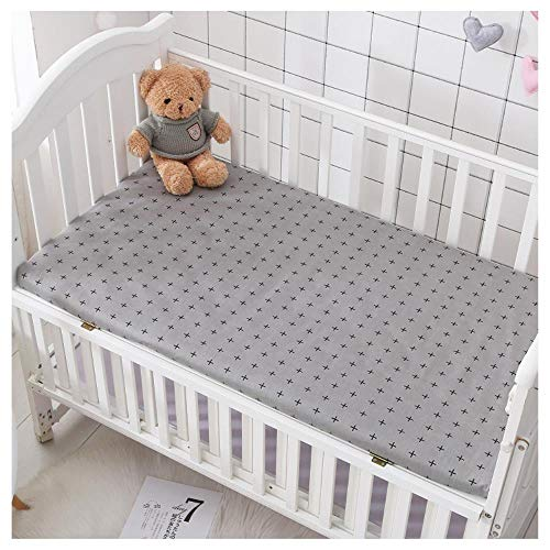 RSM Baby Mattress Cover Cotton Breathable Baby Bed Bed Sheet Newborn Sheets Infant Mattress Cover Protector,S,105 * 60x5cm