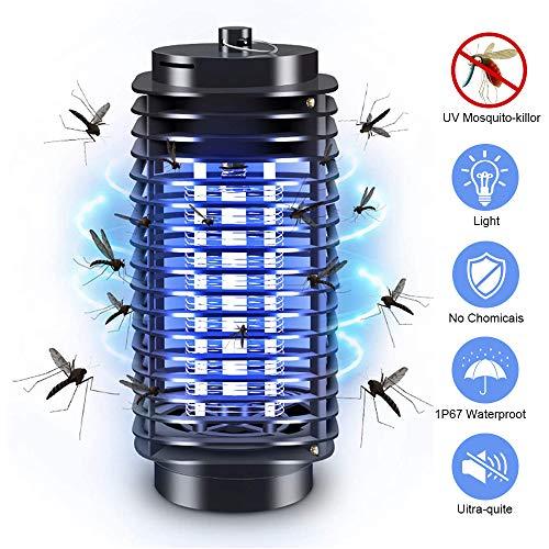 PECHTY Elektrischer Insektenvernichter,UV Insektenkiller Moskito Killer,Mückenfalle Fliegenfalle Insektenvernichter Elektrisch Für Innen und Außeneinsatz Schlafzimmer Gärten (M)