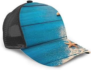 Gorra de béisbol Concepto de horario de Verano Sea Shells Starfish Malla Ajustable Gorra de béisbol Unisex Sombrero de Camionero Se Adapta a Hombres Mujeres Sombrero