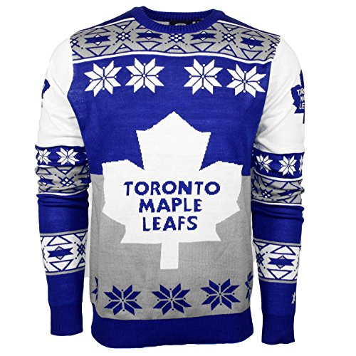 NHL Toronto Maple Leafs Big Logo Ugly Crew Neck Sweater, Large, Team Color
