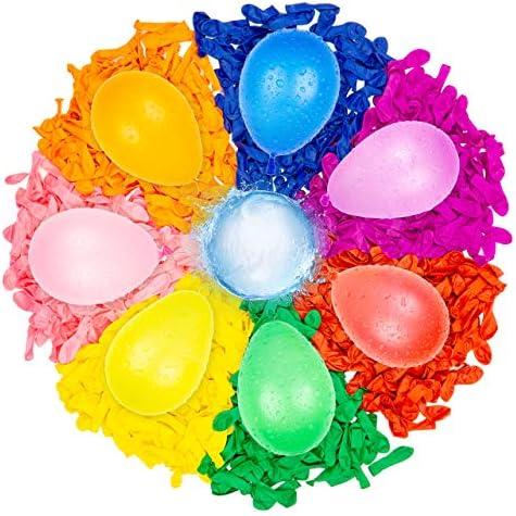 Belmalia 1000x Ballon deau Bombes à Eau coloré Facile à remplir