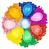 Belmalia 1000 Globos de Agua, Colorido, fácil de llenar