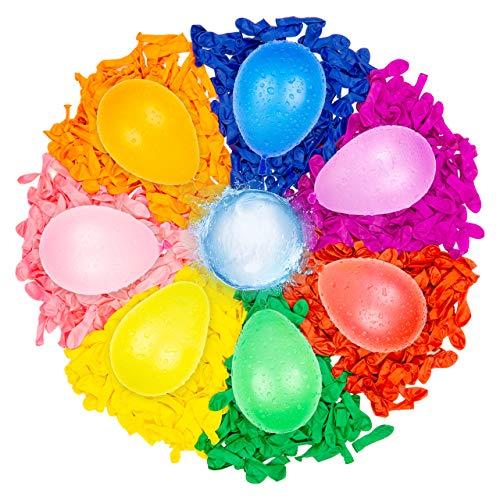Belmalia 500 Globos de Agua, Colorido, fácil de llenar