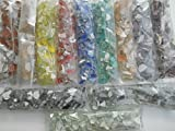 Happy-Mosaic Mosaiksteine Bruchmosaik Set 2400g mit 12 Unifarben à 200g Glasmosaiksteine zum...