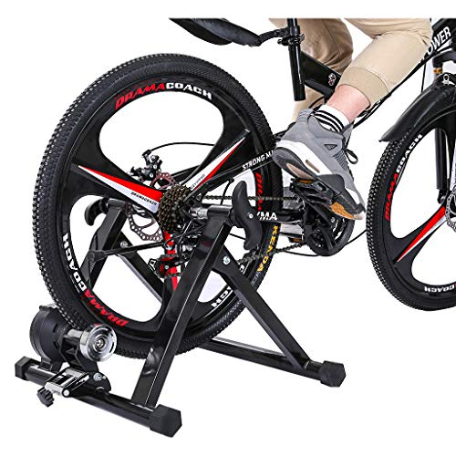 Bike Trainer Stand Magnetic Bicycle Stationary Stand for Indoor Exercise, Home Health Beauty, Shipping from The US (Black)