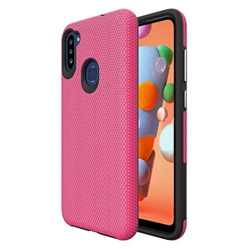 BAIYUNLONG Funda Protectora, para Samsung Galaxy A11 (versión de la UE) Triangle Texture TPU + PC Funda (Color : Pink)