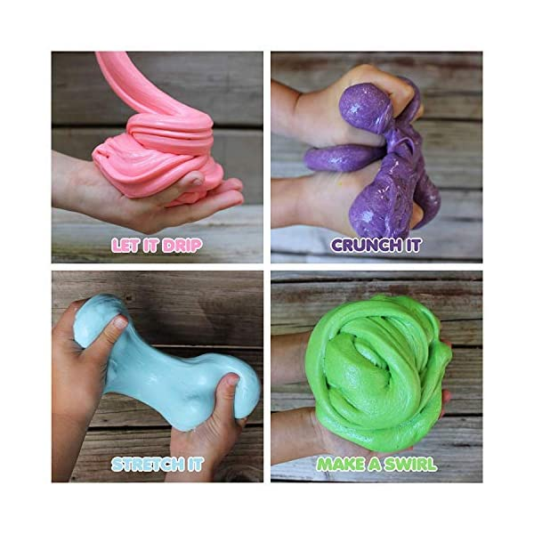 Slime Kit for Girls - All-Inclusive UNICORN Slime Making Kit - PLUS Slime Supplies Kit [57 Pieces Set] - DIY Slime Kit Makes Unicorn Slime, Cloud, Fluffy, Clear, Floam - Clear Glue Slime Activator 7