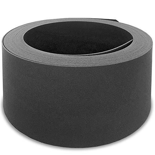 HEMMDAL Beetumrandungskante, anthrazit – 0,12 x 12 m – aus hochwertigem PP Kunststoff – Flexible, 2 mm Starke Rasenkante – sehr robuste Beetkante – ideale Abgrenzung für Mähroboter