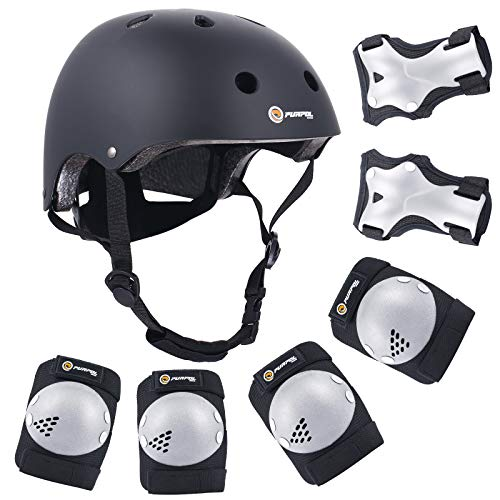 Purpol Kids Bike Helmet Set with Knee Pads and Elbow Pads Only $13.99 (Retail $27.99)