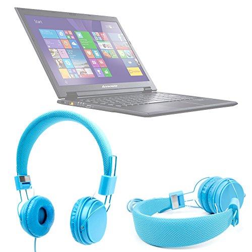 DURAGADGET Auriculares Azules para Lenovo LaVie Z HZ550 - Acolchados Y Regulables - Disponibles En Rosa