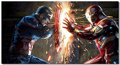 captain america iron man poster - 1