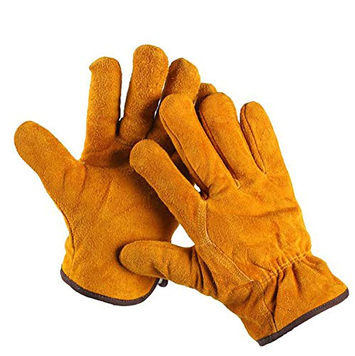 ZMYY 2 pares de guantes de trabajo de cuero de protección de aislamiento para mantener caliente y duradero, perfecto para mecánicos Asamblea General de trabajo de jardinería