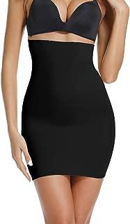WOWENY Control Half Slip for Under Dress High Waist Tummy Control Slip Slimming Slip Shapewear