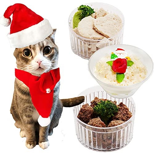 猫用クリスマスギフト 2 キャットセット/カップケーキ・馬肉団子・ローストチキン/サンタの帽子とマフラー付 ギフトや贈り物に (12月16日以降のお届け)