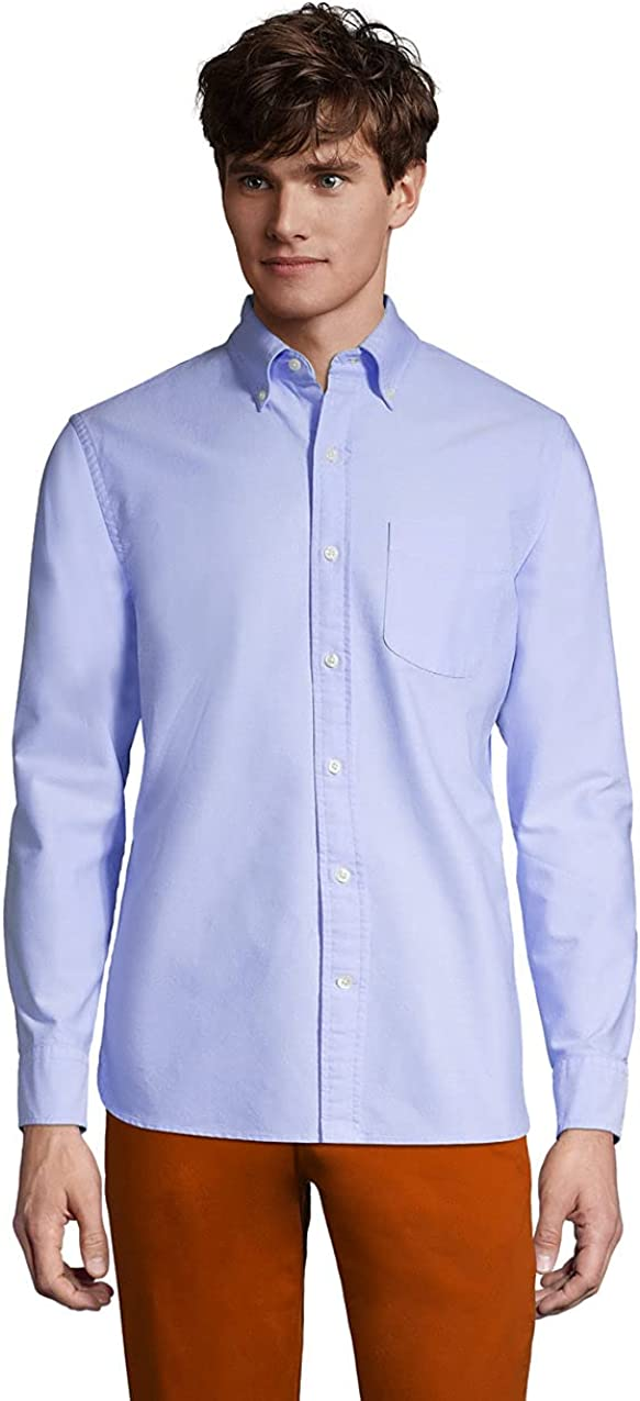 Lands' End Men's Traditional Fit Comfort-First Sail Rigger Oxford Shirt