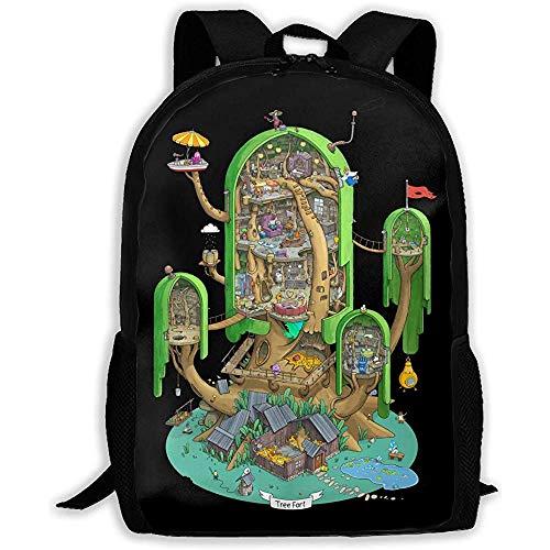 Unisex-Rucksack für Erwachsene mit großer Kapazität Finn & Jake 'S House Bookbag Reisetasche Schultaschen Laptoptasche
