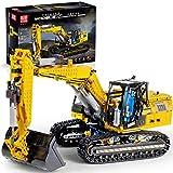 TENGER Technic Scavatrice Costruzioni, 2,4Ghz RC Escavatore con Motore e Telecomando, 1830+Pezzi Blocchetti di Costruzione Compatibile con LEGO Technic