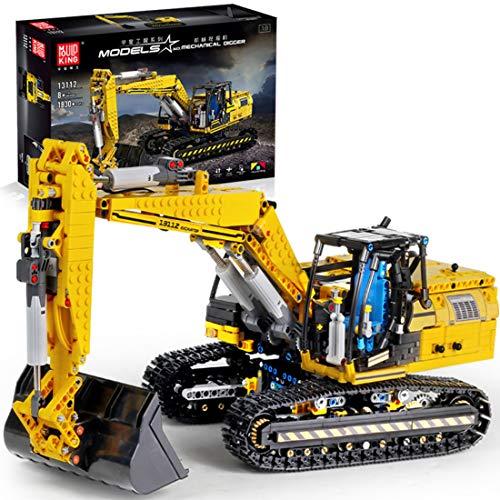 DSXX Technic Escavatore, Giocattoli da Costruzione da Collezione con Telecomando App e 2.4 GHz, 1830 Pezzi Set di Costruzioni Compatibili con Lego Technic