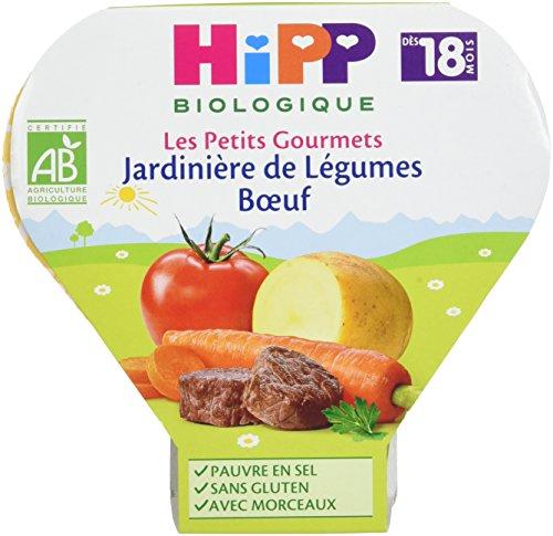 Hipp Biologique Les Petits Gourmets Jardinière de Légumes Boeuf dès 18 mois - 6 assiettes de 260 g