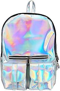 b01b45cf44 Tuankay Shiny Backpack Women Large Capacity College Style Girls Zipper Shoulder  Bag