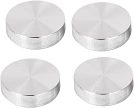 uxcell 30mm x M6 Glass Table Top Adapter Round Aluminum Disc Silver Tone 4 Pcs