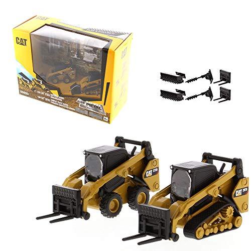1:64 Cat 272D2 - Cargador de dirección deslizante y cargador compacto Cat 297D2 1:64 - Maestros fundidos a presión - 85693