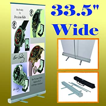 """33/"""" x 79/"""" Retractable Banner ONLY Same Day Shipping Stand Not Included"""