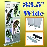 """33.5"""" X 78"""" Retractable Roll UpバナースタンドTrade Show表示33インチ(ハードウェアのみ)"""