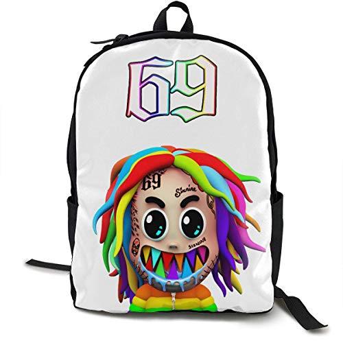 Hengtaichang 6ix-9ine Backpack Shoulder Bag Travel Bags Laptop Bag Full Printed School Bag