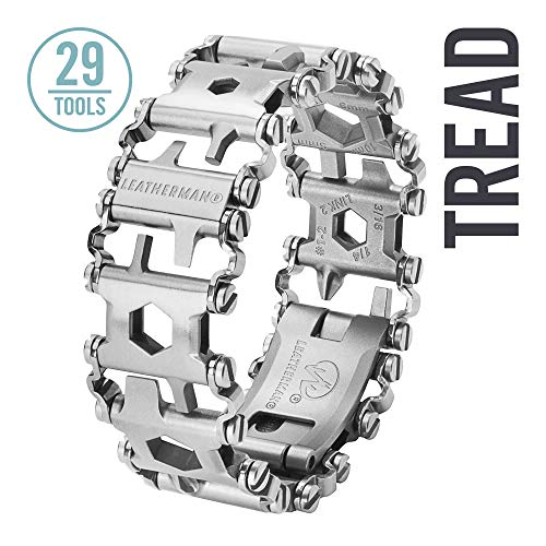 LEATHERMAN, Tread Bracelet, The Original Travel Friendly Wearable Multitool, Built in the USA, Black (FFP)