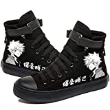 STARQUEEN Unisex Teens My Hero Academia Printed Canvas Shoes Boku No Hero Academia Casual Lace Up Sneakers Tennis Black
