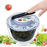 CIPOGL Salatschleuder, Multi-Dörrhandablass Presse Drücken Einfach zu Schleudern, um Gemüse zu...
