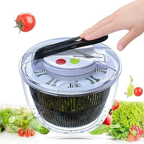 CIPOGL Salatschleuder, Multi-Dörrhandablass Presse Drücken Einfach zu Schleudern, um Gemüse zu waschen und zu trocknen,Salat-Trockner (A)