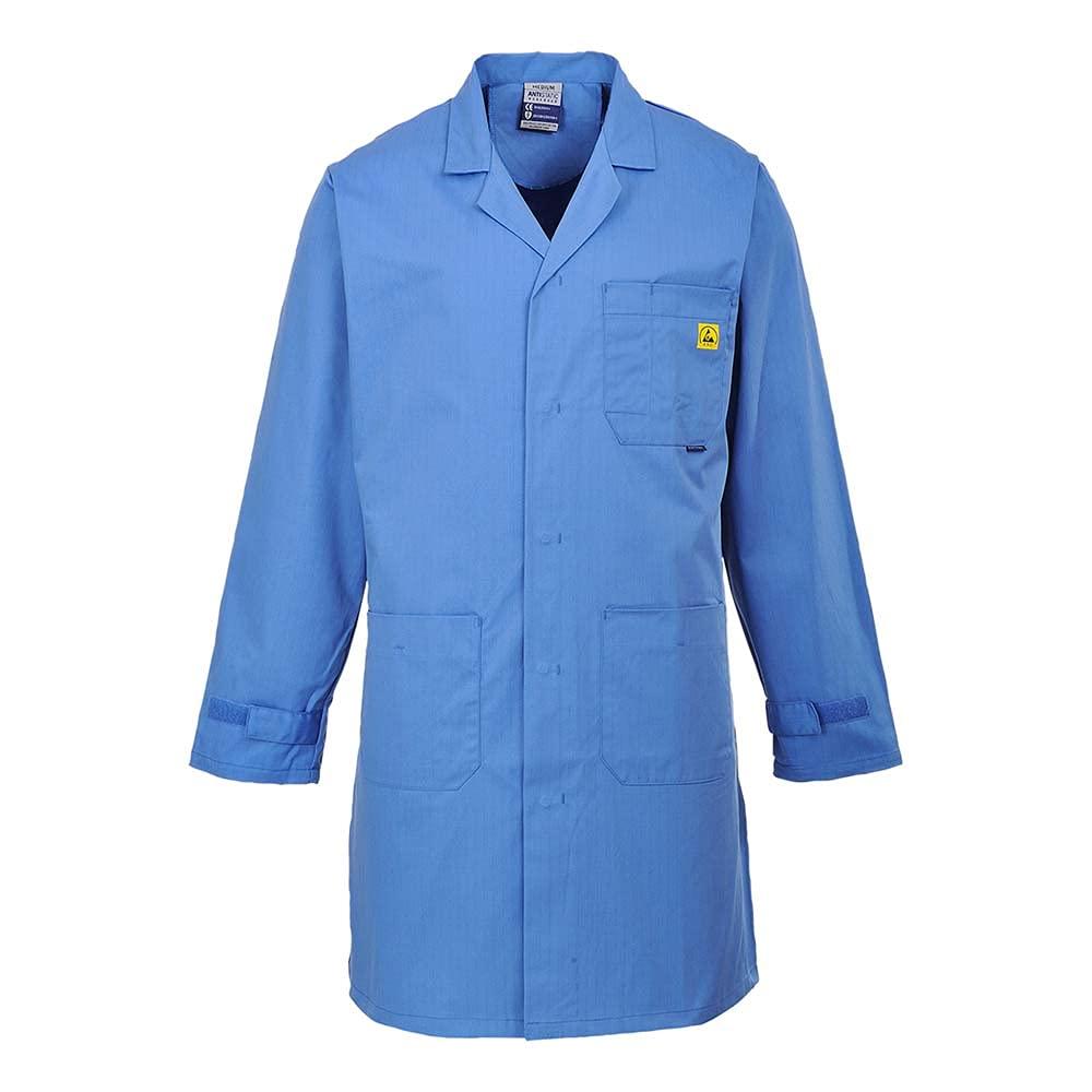 Portwest Workwear Mens Anti Static Coat HosBlu XSmall