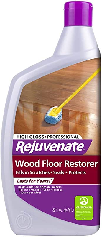 Rejuvenate Professional Wood Floor Restorer And Polish With Durable Finish Non Toxic Easy Mop On Application
