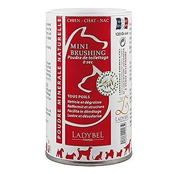 LADYBEL Lady Chat Poudre de Toilettage pour Chien, 120 gramme