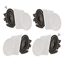 """commercial Pyle 8 """"2-way ceiling speaker with 4 Bluetooth wall mounts High speed connection… pyle ceiling speakers"""