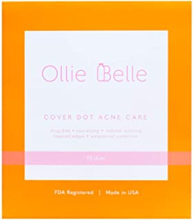 Cover Dot Acne Care (72 Dots) Skin Blemish Treatment with Hydrocolloid | Clear, Waterproof Patch | Oil and Pimple Absorbing