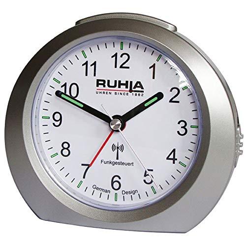 Ruhla Wecker Analoger Funkwecker Modell RC-258-2 No Tick