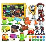 Venta caliente Plants Vs Zombies Figuras de acción Juguetes Zombie Plant Dolls Zombie Skittles Pea Shooter Blowgun Model Toy PVZ Sets Toy