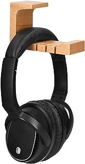 kwmobile Soporte de Madera para Cascos - Colgador de Madera de Haya para Headphones - Percha para Auriculares - Soporte de Pared y Mesa para Cascos